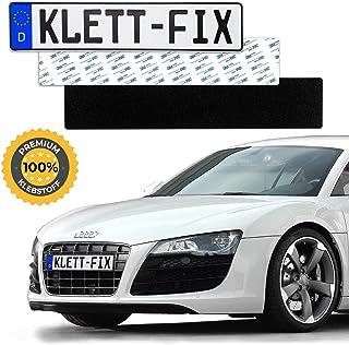 1 x Klett Fix® Auto und Motorrad Kennzeichenhalter rahmenlos   Nummernschildhalterung KFZ   unsichtbarer Nummernschildhalter   Nummernschildhalter