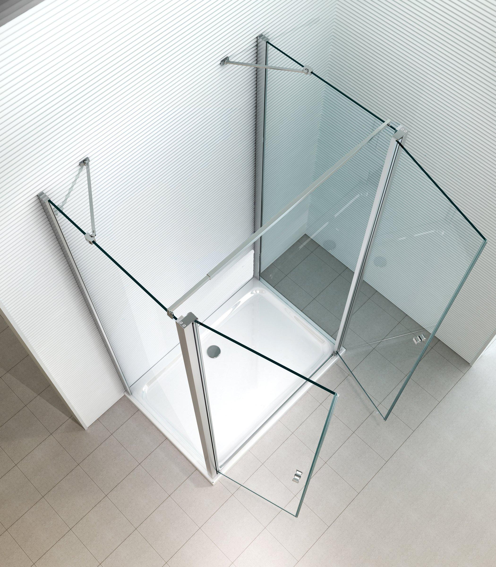 Mille U cabinas de ducha – Colgante Puerta – Ducha – Mampara – Forma de U – 8 mm – Cristal de Seguridad monocapa de – Colgante Puerta – Mecanismo De & Elevación: Amazon.es: Bricolaje y herramientas