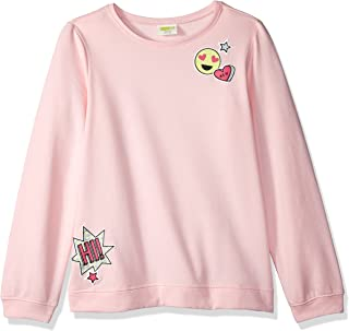 Crazy 8 Girls' Little Long Sleeve Emoji Pull Over Sweater