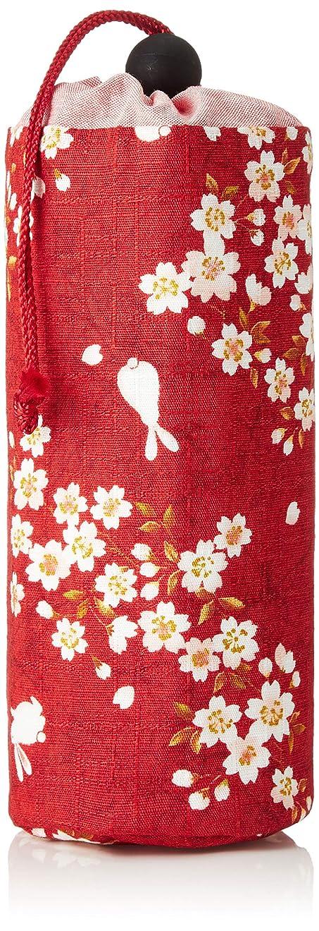 [祐馬工芸] ペットボトルカバー 500ml 手づくり?福をよぶ 桜うさぎ 保温シート使用 日本製 綿100%