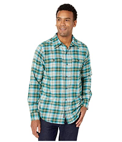 ExOfficio BugsAway(r) Redding Midweight Flannel Long Sleeve Shirt (Algiers Blue) Men