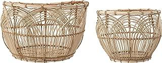 Bloomingville A82042387 Rattan Baskets, Natural