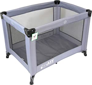 iSafe Roll  amp  Play  96 cm  Luxury Travel Cot Playpen  Grey