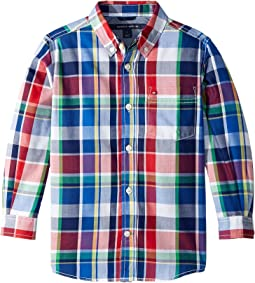 Tommy Hilfiger Kids - Logan Plaid Shirt (Toddler/Little Kids)