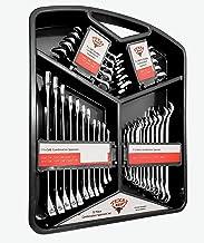 Texas Best Chrome Vanadium Steel Wrench Set | SAE & MM Sizes | Hanging Tray Organizer Included (32 Pc)