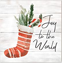 Kindred Hearts 10x10 Joy to The World Stocking, Multicolor