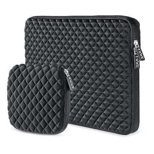 EWWE Housse sac étui de Protection à 3D pour Ordinateur Portable 11,6 - 12,5 Pouces Notebook, New Surface Pro 5/4/3/2/1, 12 Inch New MacBook, Résistant Chocs et Éclaboussures avec Petit étui, Noir