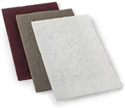 StewMac 3M Scotch-Brite Abrasive Pads, Set of 3 Different Grades, for Cleaning, Polishing, and Refinishing