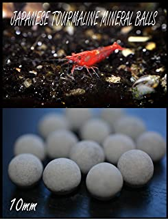 AQUATICBLENDEDFOODS (15) Japanese Tourmaline Mineral Balls for Shrimp Tanks & (20) Free Alder Cones