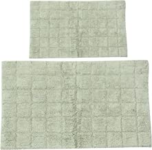 Castle Hill CH-BR-17X24&24X40-SUMT-2PCS-LSAG 2-Piece Bath Rug Sets, 17 by 24-Inch/24 by 40-Inch, Light Sage