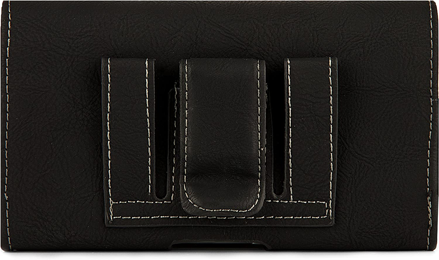 Cell Phone Holster Pouch with Belt Clip for iPhone 12 Pro, 12, 11, 11 Pro, XR, XS, 8, X (Matte Black)