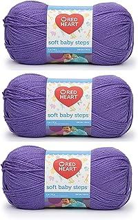Bulk Buy: Red Heart Soft Baby Steps Yarn (3-Pack) Light Grap