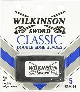 Wilkinson Sword Double Edge Razor Blade Refills for Men - 5 Count