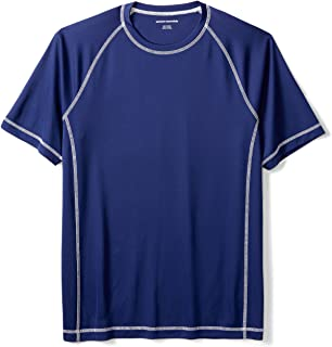 Men's Short-Sleeve Loose-Fit Quick-Dry UPF 50 Swim Tee