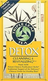 Triple Leaf Tea Chinese Medicinal Detox Triple Leaf Tea Bag, 20 Count