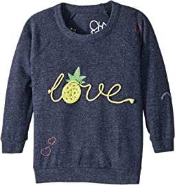 Chaser Kids Love Knit Raglan Pineapple Love Pullover (Toddler/Little Kids)