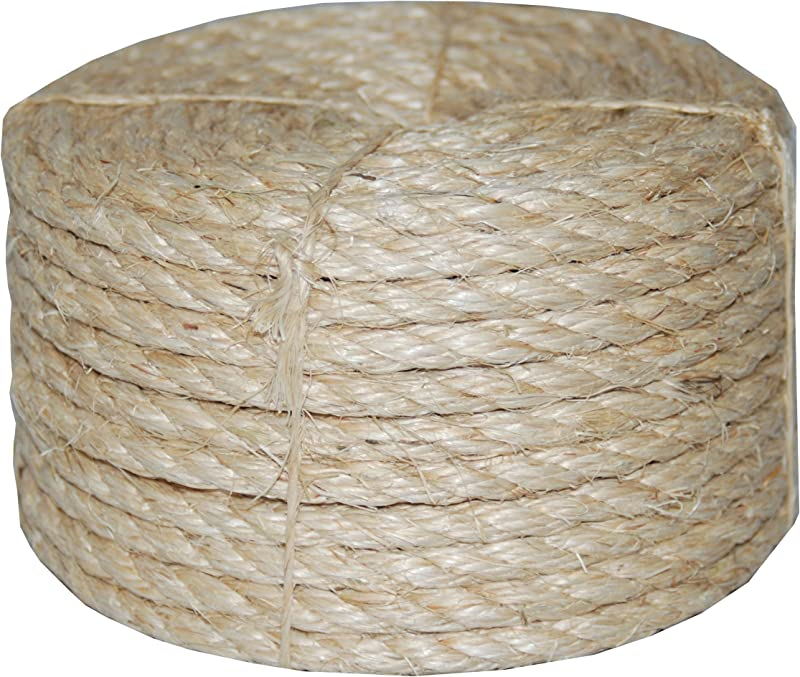T W Evans Cordage 23 410 3 8 Inch By 100 Feet Twisted Sisal Rope