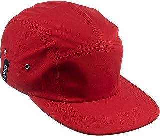 FLVFF 5 Panel Hat for Men Women Flat Brim Baseball Cap Urban Street Camper Hats (F2)