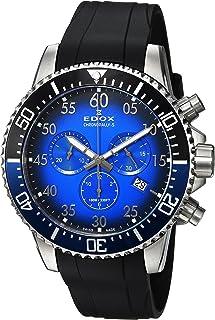 EDOX - Reloj Cronógrafo para Hombre de Cuarzo con Correa en Caucho 10227-3NBUCA-BUBN