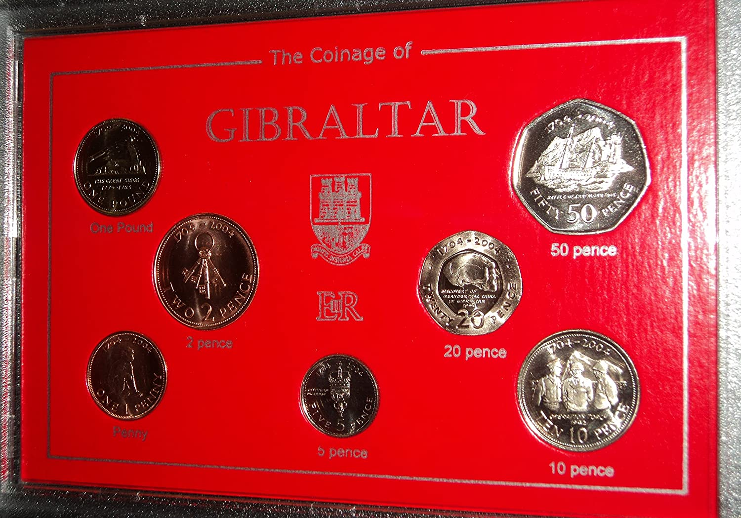 The Rock of Gibraltar (300th anniversary of British rule, 17042004) Coin Present Display Gift Set 2004