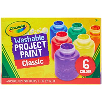 Crayola Washable Kids Paint, 6 Count, Kids At Home Activities, Painting Supplies, Gift, Assorted