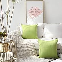 Kevin Textile Classic Retro Plaids Cotton Linen Decorative Throw Pillow Case Bright Cushion Cover Checkered Weaving Linen ...