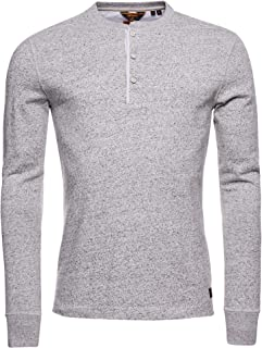 Superdry Ls Grandad Top T-Shirt Homme