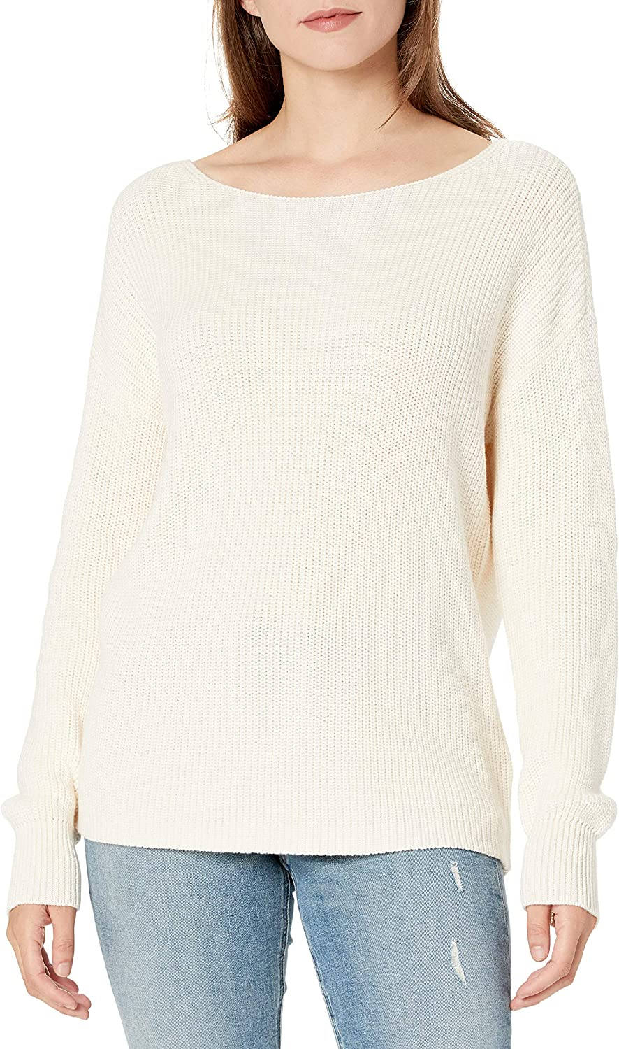 Amazon Brand - Goodthreads Women's Relaxed Fit Mineral Wash Ribbed Boatneck Pullover Sweater