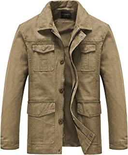 Heihuohua Men's Casual Military Jacket Cotton Field Jacket