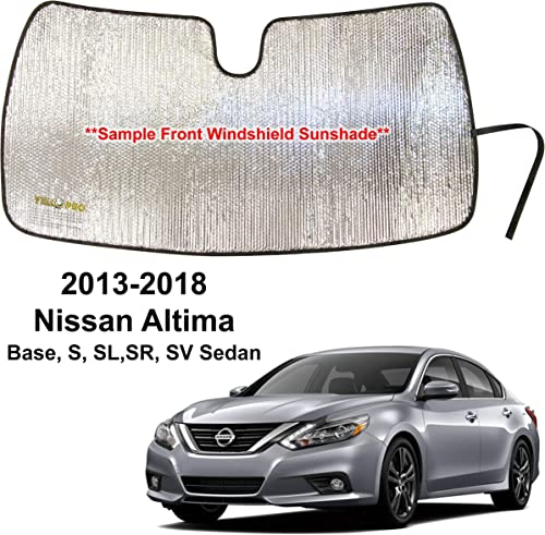 popular YelloPro outlet sale Custom Fit Automotive Reflective Front Windshield Sunshade Accessories UV Reflector Sun Protection for 2013 2014 2015 2016 2017 2018 Nissan sale Altima Base, S, SL,SR, SV Sedan outlet sale