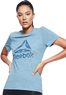 Reebok Women's Training Essentials Marble Logo T-Shirt