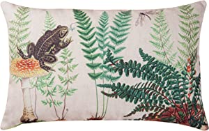 C&F Home Fern & Frog Garden Botanical Premium Indoor/Outdoor Decorative Accent Throw Pillow 14 x 22 Green