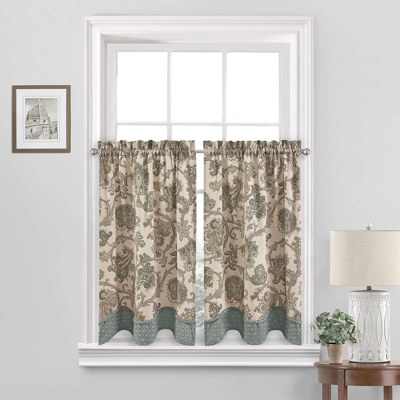 Waverly Arezzo 5 ☆ very popular Small Panel Tiers Pair Window Privacy half B Treatment