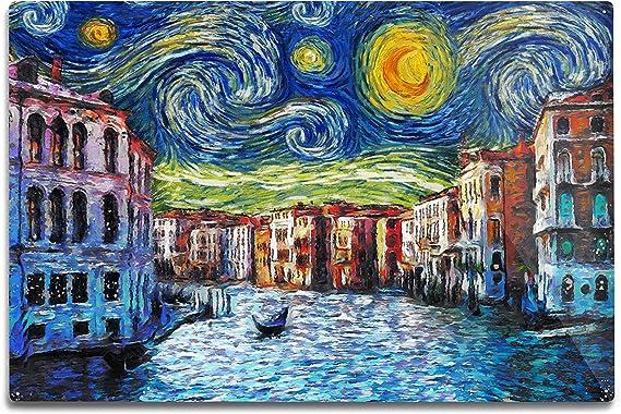 Amazon Com Venice Italy Starry Night Van Gogh 86551 12x18 Signed Print Master Art Print Wall Decor Poster Posters Prints