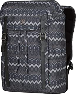 """Wenger 606475 Cohort 16"""" Flapover Laptop Backpack, Padded Laptop Compartment with Tablet Pocket in a Black Native Print {2..."""