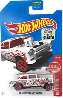Hot Wheels 2017 Red Edition '55 Chevy Bel Air Gasser 2/12, Exclusive White