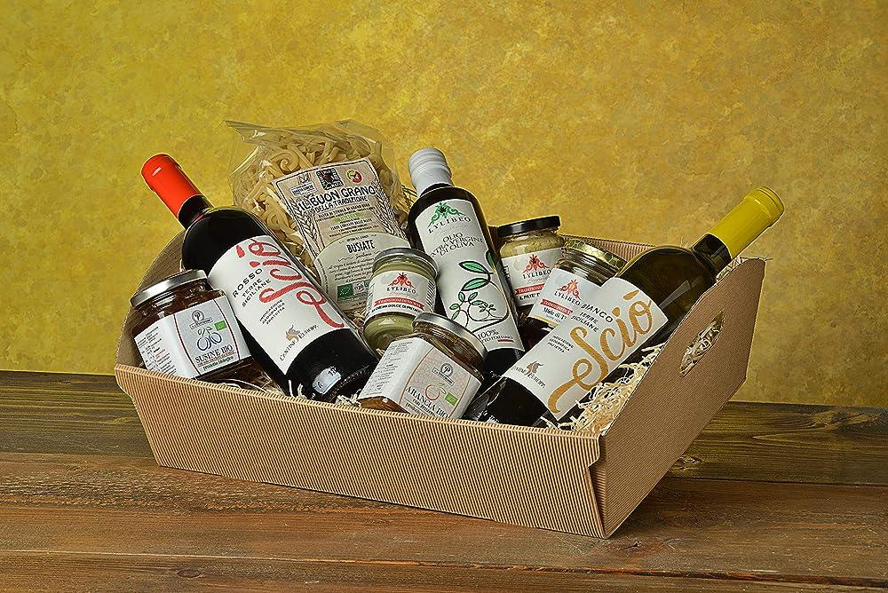 Lylibeo biogroup,cesto regalo natalizio 2020 e varie occasioni la sicilia a tavola