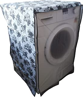 Smart Shelter Washing Machine Cover Suitable for Front Load Washing Machines from All Brands (White-Gray, 61 cm X 61 cm X ...