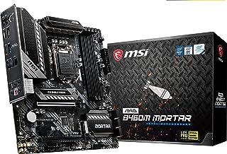 msi MAG B460M Mortar Gaming Motherboard LGA1200 10th Gen mATX MB 4xDDR4 2xPCIEx16 1xHDMI 1xDP M.2 4xSATAIII 3xUSB3.1 6xUSB...