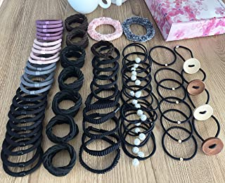 72 Pcs Thick Seamless Cotton Hair Bands Elastic Hair Ties Ponytail Holders