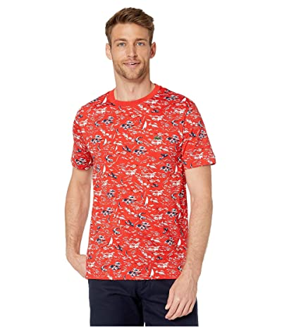 Lacoste Short Sleeve All Over Printed Jersey T-Shirt (Salvia/Multicolor) Men