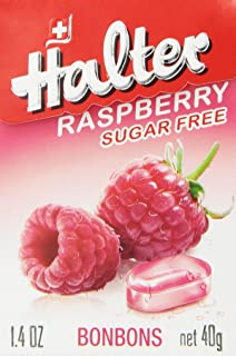 Halter Sugar Free Candy, Raspberry, 1.4-Ounce Boxes (Pack of 8)