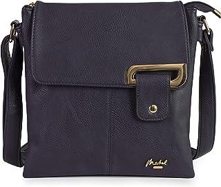 Mabel London Damen Kleine Crossbody Umhängetasche - Mehrere Einsteck- und Reißverschluss-Taschen Handtasche mit Aufbewahru...