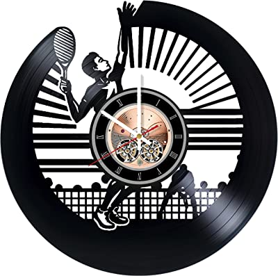 choma Tennis Vinyl Record Wall Clock - Living Room or Garage Wall Decor - Gift Ideas for Friends, Boys and Girls, Teens – Sport Unique Art Design