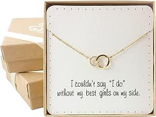 Bridesmaid Gift - Delicate Infinity Interlocking Circles Necklace (16