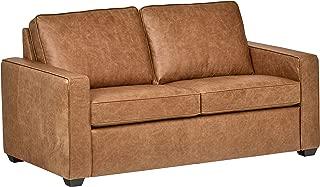 Rivet Top-Grain Leather Sofa – Andrews, Modern Classic, 67