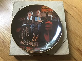 "Norman Rockwell: ""Evening Ease"" Rockwell's Light Campaign--Authentic Registered Collectible Plate"