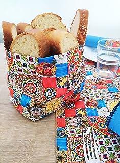 Porta pane in stile siciliano, fatto a mano, decorazioni tavola, porta cialde cioccolatini frutta secca portatutto