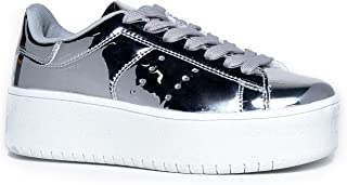 556fd9d89 J. Adams Platform Lace up Sneaker - Casual Chunky Walking Shoe - Easy  Everyday Fashion