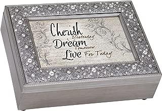 Cherish Yesterday Dream Tomorrow Filigree Jewel Jewelry Music Box Plays Fur Elise